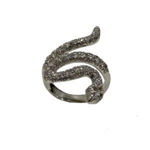 Anello Serpente realizzato in Oro Bianco 750‰